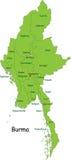 Kaart van Birma stock illustratie