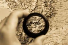Kaart van Bogota Stock Afbeeldingen
