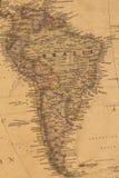 Kaart van Brazilië Stock Foto's