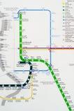 Kaart van BTS-hemeltrein in Bangkok. Royalty-vrije Stock Foto's