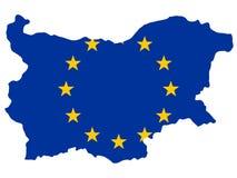 Kaart van Bulgarije vector illustratie