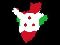 Kaart van Burundi royalty-vrije illustratie