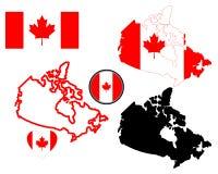 Kaart van Canada stock foto
