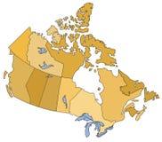 Kaart van Canada Stock Afbeelding