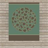 Kaart van cirkel met de herfstbladeren dat wordt gemaakt stock illustratie