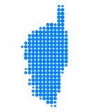 Kaart van Corsica Royalty-vrije Stock Afbeelding
