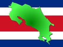 Kaart van Costa Rica Stock Afbeeldingen