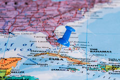 Kaart van Cuba Royalty-vrije Stock Afbeeldingen
