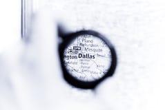 Kaart van Dallas stock foto