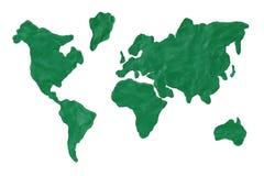 Kaart van de aarde Stock Fotografie