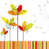 Kaart van de de bloemgroet van de lente de abstracte Stock Fotografie