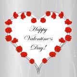 Kaart van de de Dag de van letters voorziende Groet van gelukkig Valentine royalty-vrije illustratie