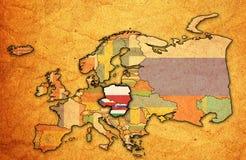 Kaart van de Groep van Visegrad Royalty-vrije Stock Afbeeldingen