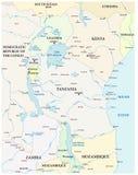 Kaart van de grote Afrikaanse meren Royalty-vrije Stock Afbeelding