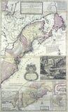 Kaart van de heerschappijen van de Koning van Groot-Brittannië royalty-vrije stock afbeelding