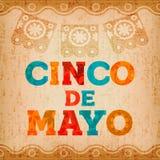 Kaart van de het citaatgroet van de Cincode Mayo de Mexicaanse vakantie Royalty-vrije Stock Fotografie