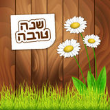 Kaart van de het Nieuwjaargroet van Roshhashanah de Joodse vector illustratie