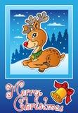 Kaart van de het themagroet van Kerstmis 3 Stock Fotografie