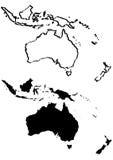 Kaart van de illustratie van Australië Royalty-vrije Stock Foto's