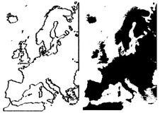 Kaart van de illustratie van Europa stock illustratie