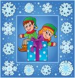Kaart van de Kerstmis decoratieve groet 2 Stock Fotografie