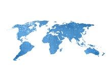 Kaart van de kras de uitstekende wereld Royalty-vrije Stock Afbeelding