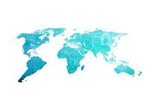 Kaart van de kras de uitstekende wereld Royalty-vrije Stock Fotografie