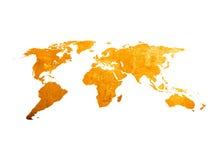 Kaart van de kras de uitstekende wereld Royalty-vrije Stock Foto