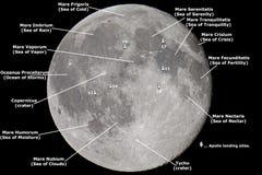Kaart van de Maan Royalty-vrije Stock Afbeeldingen