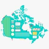 Kaart van de machine van Canada royalty-vrije illustratie