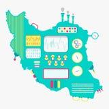 Kaart van de machine van Iran vector illustratie