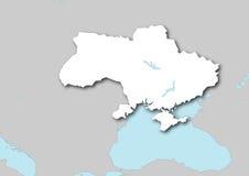 Kaart van de Oekraïne Stock Foto's