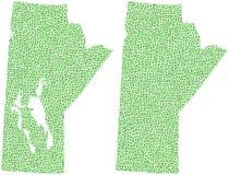 Kaart van de provincie van Manitoba Stock Foto's