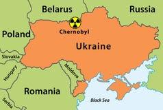 Kaart van de ramp van Tchernobyl Royalty-vrije Stock Afbeelding