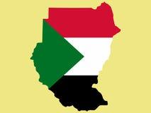 Kaart van de Soedan royalty-vrije illustratie