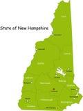 Kaart van de staat Van Newhampshire Stock Foto