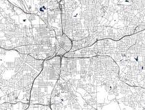 Kaart van de stad van Atlanta, de V.S. vector illustratie