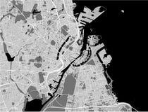 Kaart van de stad van Kopenhagen, Denemarken stock foto's