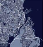 Kaart van de stad van Kopenhagen, Denemarken royalty-vrije stock fotografie