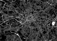 Kaart van de stad van Manchester, Engeland, Groot-Brittannië royalty-vrije illustratie