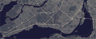 Kaart van de stad van Montreal, Canada vector illustratie