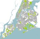 Kaart van de Stad van New York, NY, de V.S. royalty-vrije illustratie