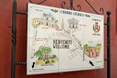 Kaart van de stad van de Kust van Anacapri Amalfi Royalty-vrije Stock Foto