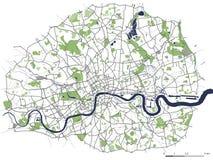 Kaart van de stad van Londen, Groot-Brittannië royalty-vrije illustratie