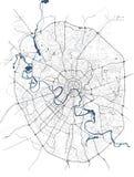 Kaart van de stad van Moskou, Rusland vector illustratie