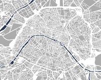 Kaart van de stad van Parijs, Frankrijk stock illustratie