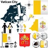 Kaart van de Stad van Vatikaan Stock Afbeelding