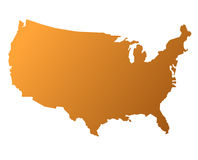 Kaart van de V.S. royalty-vrije illustratie