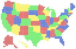 Kaart van de V.S. Royalty-vrije Stock Foto's
