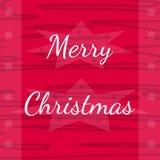 Kaart van de vakantie de roze groet met Vrolijke Kerstmis Stock Fotografie